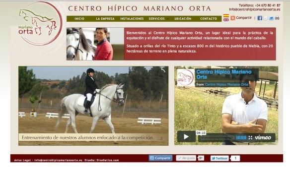 Web Inicio Centro Hípico Mariano Orta