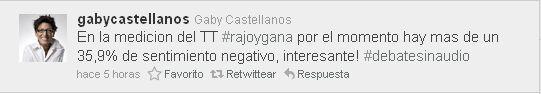 Tweet de @gabycastellanos