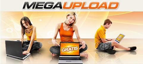 Imagen de la publicidad de Megaupload