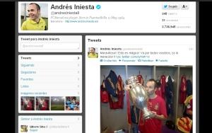 Perfil en Twitter del futbolista Andrés Iniesta